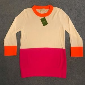 New Kate Spade color dip crewneck sweater, S